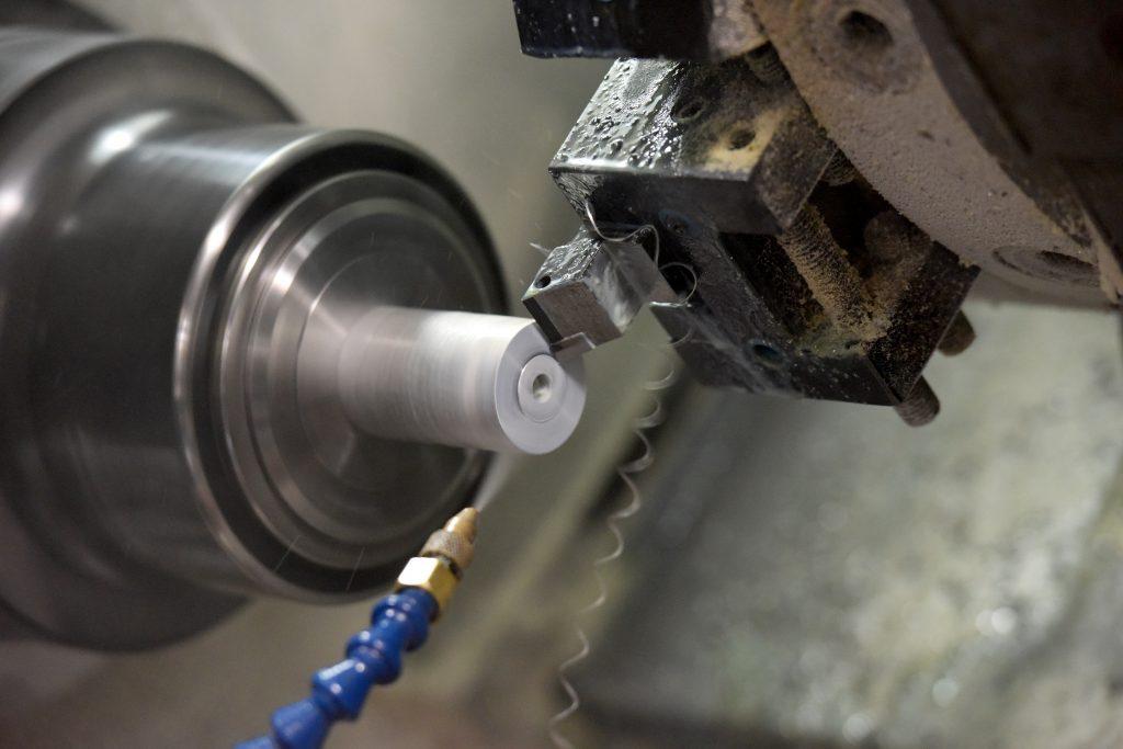 Turning lathe metal